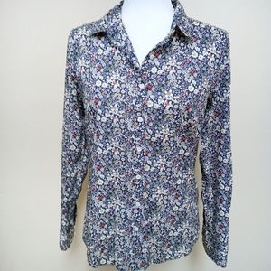 J. Crew Liberty Perfect Floral Blouse Long Sleeve